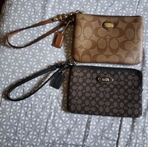 Preloved Lot of 2 small COACH Wristlets